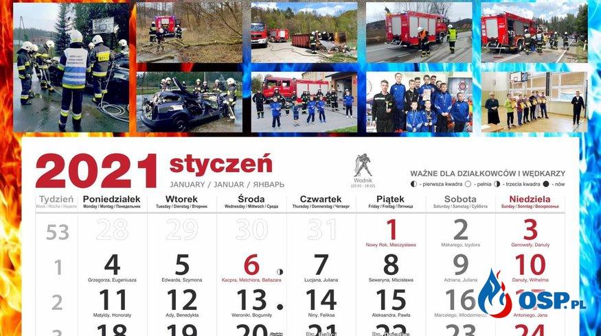 Podziękowanie za zakup kalendarzy na 2021 rok OSP Ochotnicza Straż Pożarna