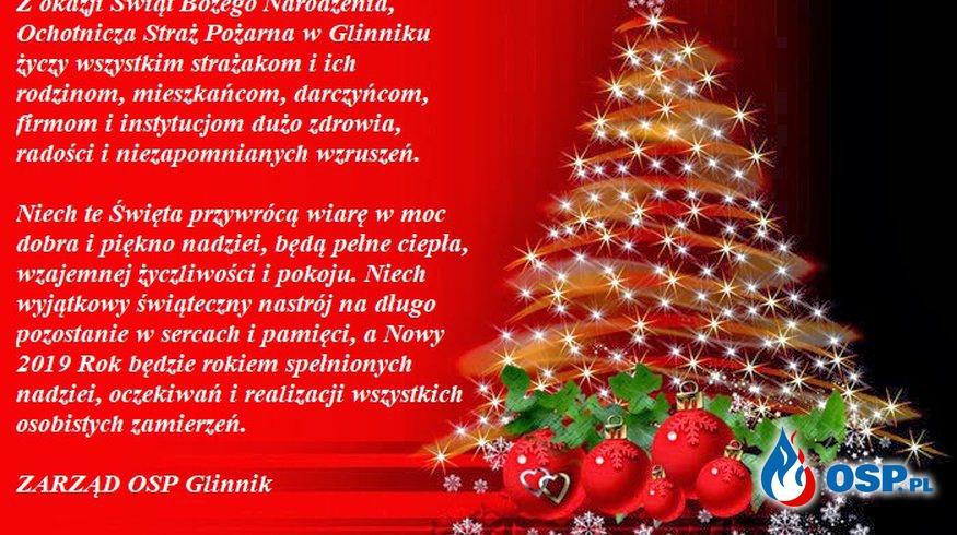Święta Bożego Narodzenia. OSP Ochotnicza Straż Pożarna