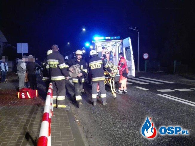 Potrącenie na pasach - DK 11 OSP Ochotnicza Straż Pożarna