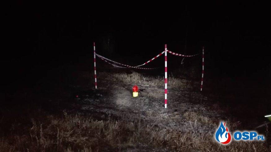 Wybuch amunicji w miejscowości Sędek OSP Ochotnicza Straż Pożarna