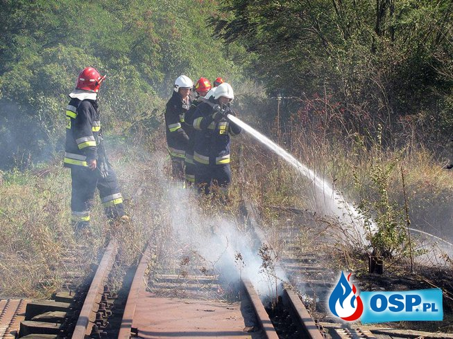 #27 Pożar suchej trawy na nasypie kolejowym OSP Ochotnicza Straż Pożarna