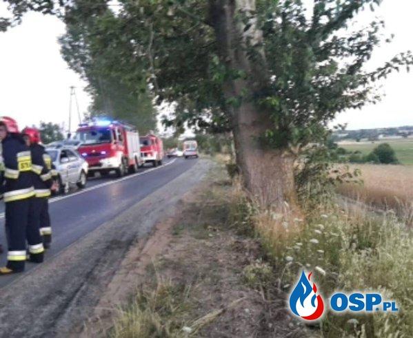 Wypadek! OSP Ochotnicza Straż Pożarna
