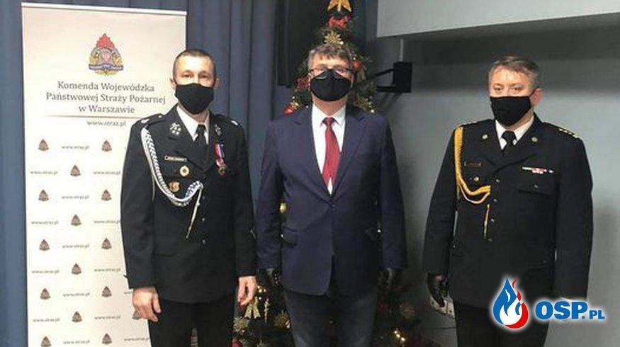 """Brązowa Odznaka ,,Zasłużony dla Ochrony Przeciwpożarowej"""" OSP Ochotnicza Straż Pożarna"""