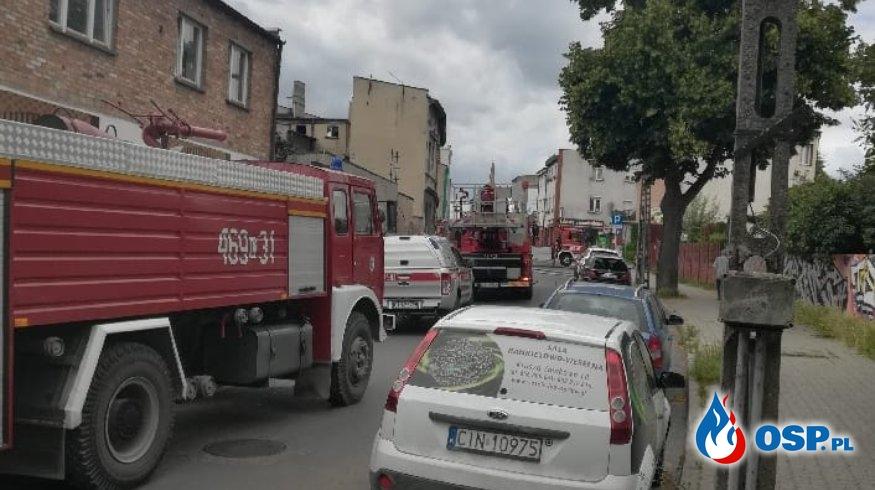 Pożar kamienicy OSP Ochotnicza Straż Pożarna