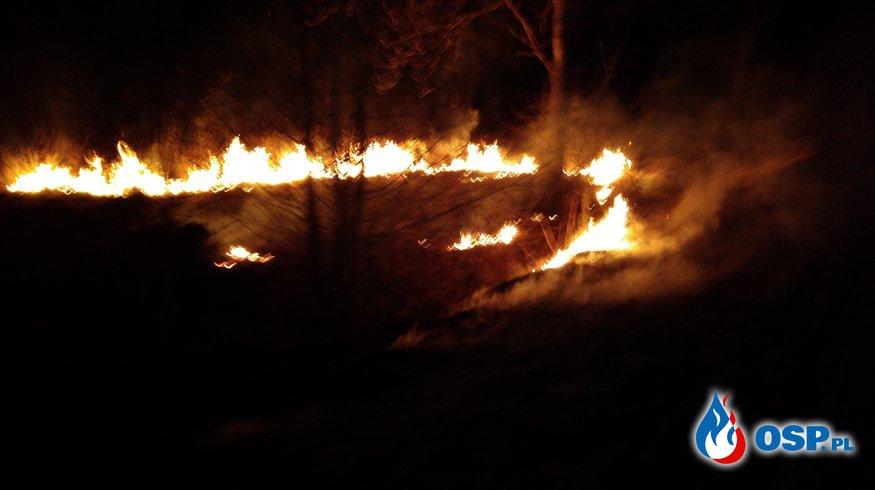 Pierwszy pożar traw OSP Ochotnicza Straż Pożarna