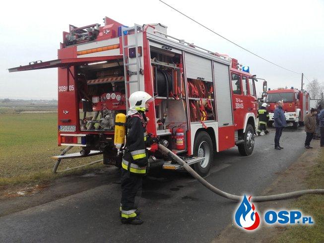 Pożar budynku mieszkalnego w Domecku OSP Ochotnicza Straż Pożarna