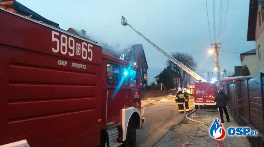 Pożar szkoły Raszczyce 22.12.2015 OSP Ochotnicza Straż Pożarna