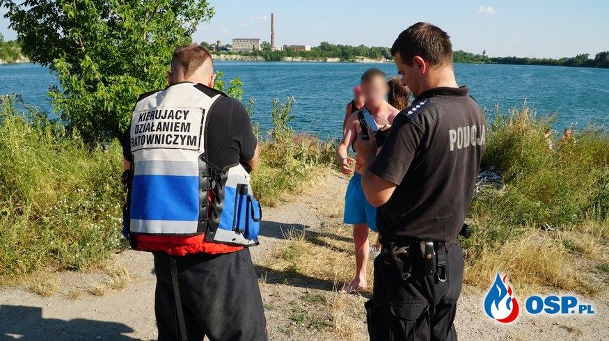 Poszedł popływać mając 2,6 promila. Strażacy znaleźli go śpiącego w krzakach. OSP Ochotnicza Straż Pożarna