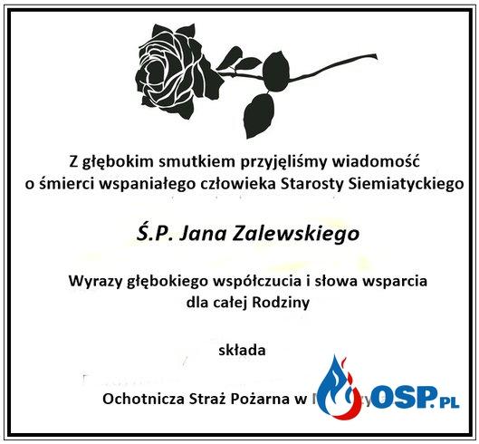 Kondolencje OSP Ochotnicza Straż Pożarna