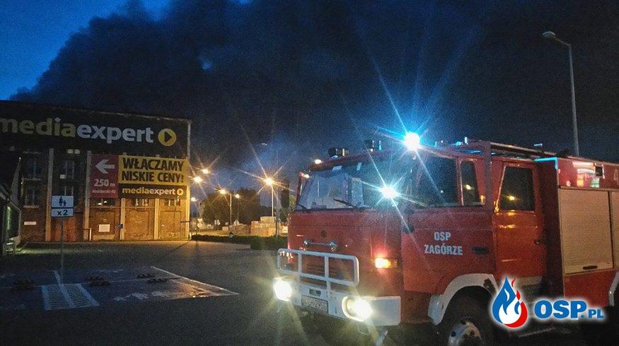 Pożar składowiska odpadów Trzebinia ul.Słowackiego. OSP Ochotnicza Straż Pożarna