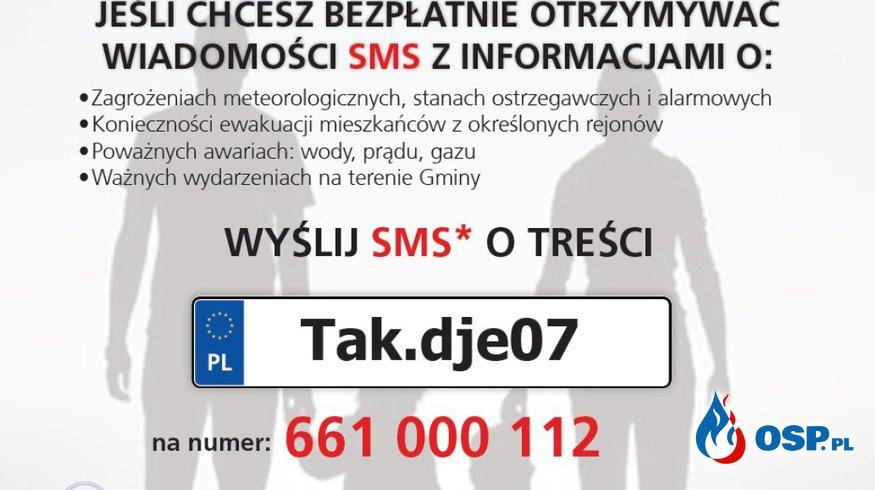 Informacje o zagrożeniach w Gminie Mysłakowice OSP Ochotnicza Straż Pożarna
