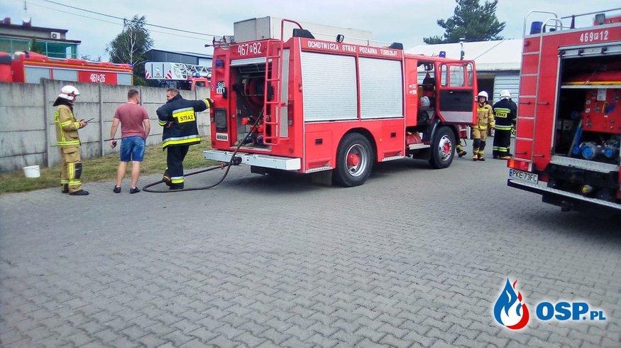Tabor Wielki  pożar w zakładzie tapicerskim OSP Ochotnicza Straż Pożarna