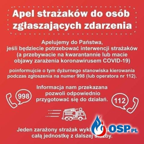 #Zostań w domu OSP Ochotnicza Straż Pożarna