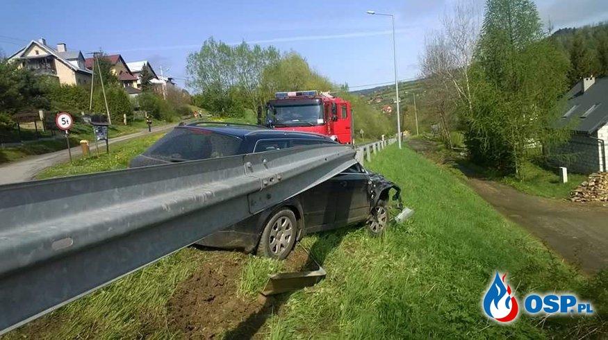 Wypadek drogowy, plama oleju na Jeziorze Solińskim, Powalone drzewo - 3 wyjazdy w jeden dzień OSP Ochotnicza Straż Pożarna