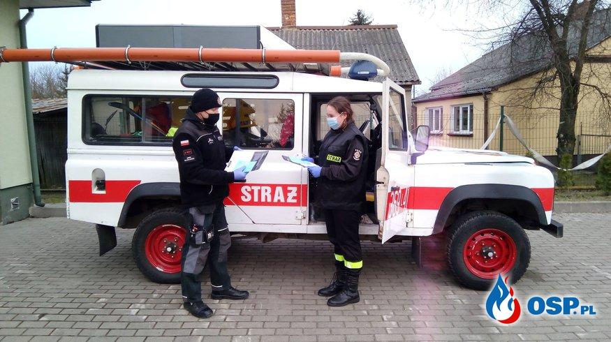 Transport na szczepienie przeciwko COVID-19 OSP Ochotnicza Straż Pożarna