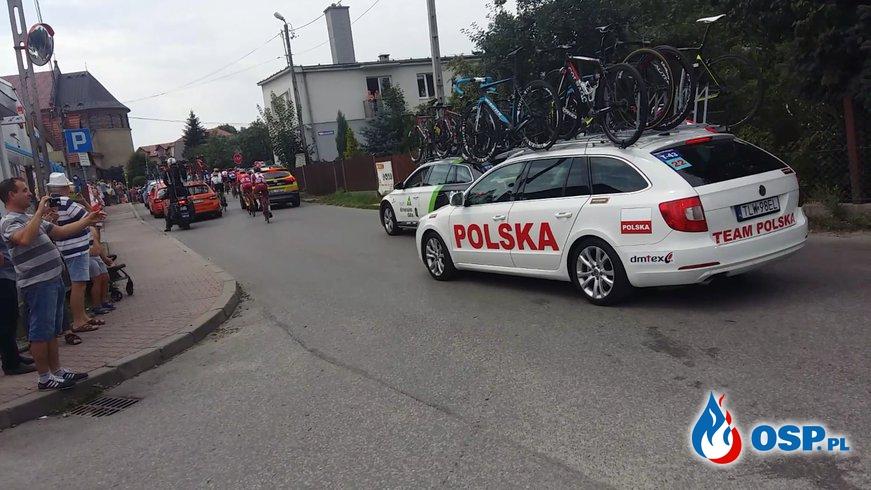 Zabezpieczenie przejazdu Tour de Pologne. OSP Ochotnicza Straż Pożarna