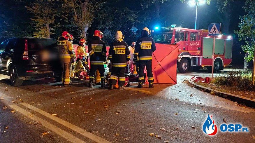 19-letni motocyklista zginął w wypadku w Małopolsce OSP Ochotnicza Straż Pożarna