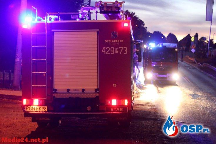 Kolizja  w Jankowie Dolnym OSP Ochotnicza Straż Pożarna