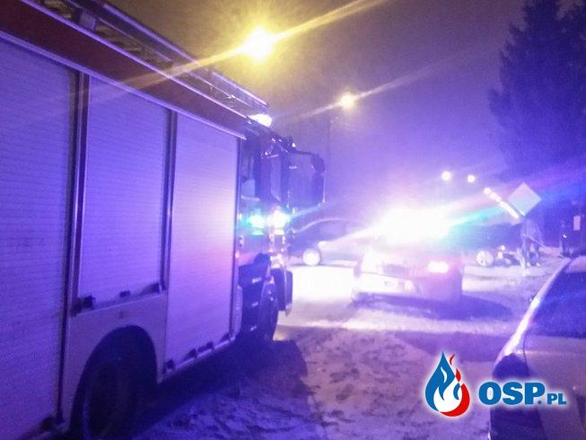 Groźnie wyglądająca kolizja.. OSP Ochotnicza Straż Pożarna