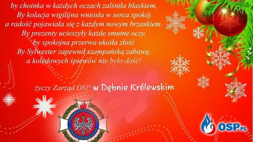 Życzenia OSP Ochotnicza Straż Pożarna
