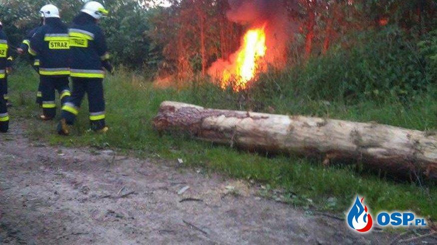 Pożar opon ! OSP Ochotnicza Straż Pożarna