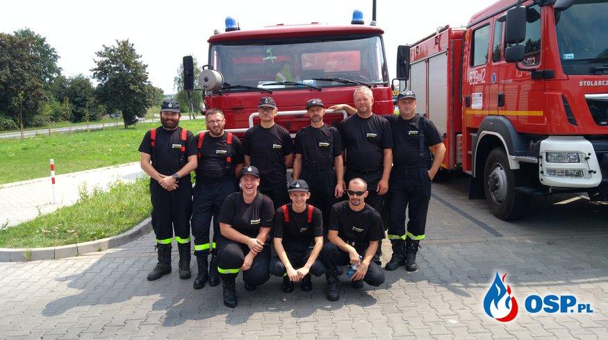 Zabezpieczanie trasy przejazdu 2 etapu 75 Tour de Pologne  OSP Ochotnicza Straż Pożarna