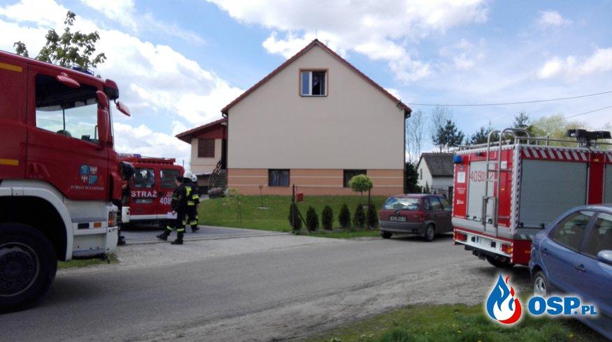 zadymienie budynku OSP Ochotnicza Straż Pożarna