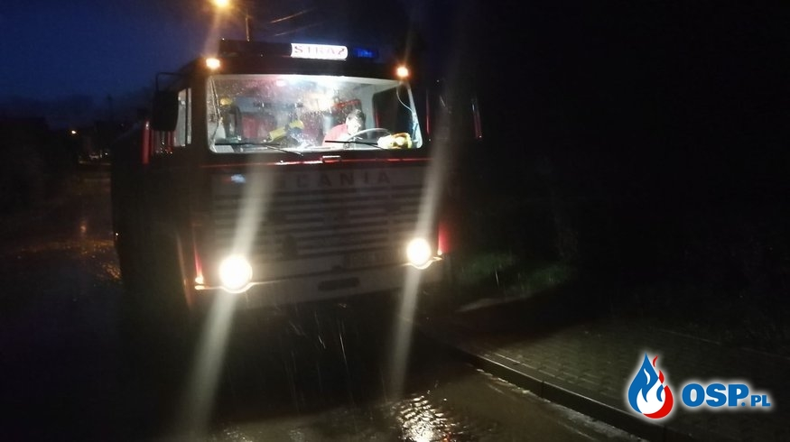 Wyjazd do zalanej posesji Warcino 18-09-2019 r. OSP Ochotnicza Straż Pożarna