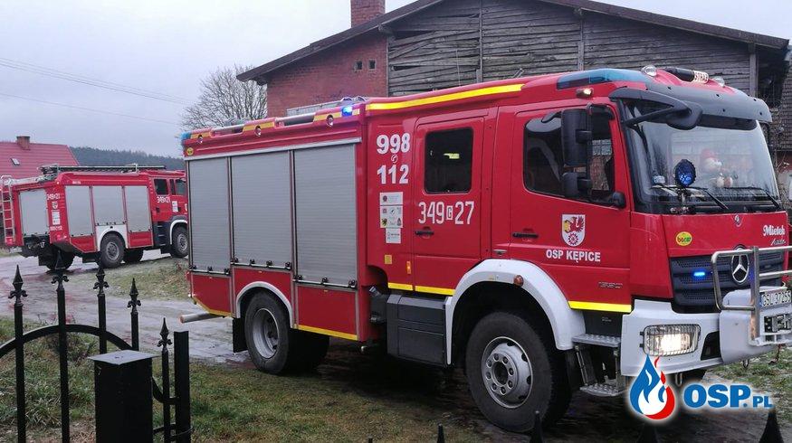 Otwarcie mieszkania i pożar sadzy w kominie OSP Ochotnicza Straż Pożarna