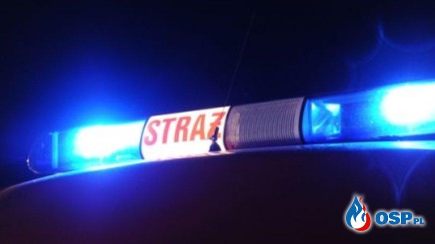 Pożar drewna w Babiaku OSP Ochotnicza Straż Pożarna