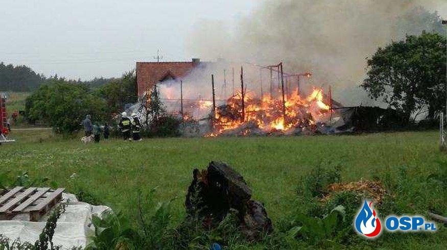 Pożar budynku gospodarczego w Tyrowie OSP Ochotnicza Straż Pożarna