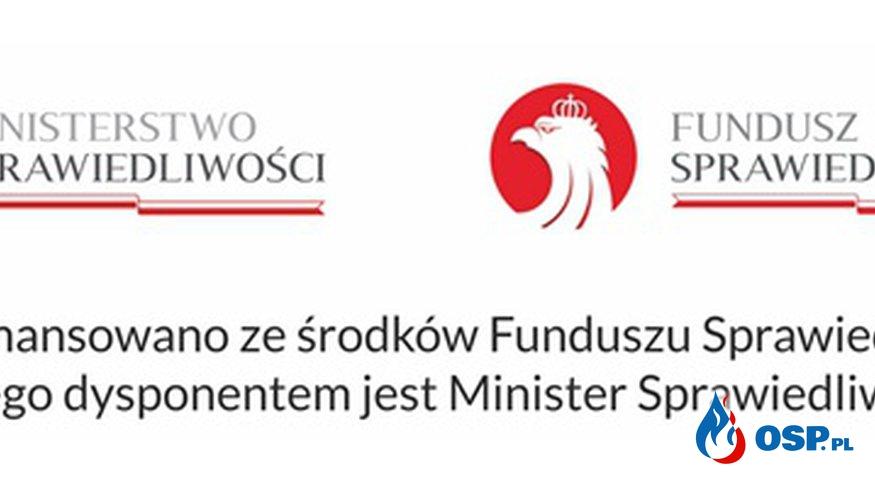 Przekazanie sprzętu ze środków Funduszu Sprawiedliwości OSP Ochotnicza Straż Pożarna