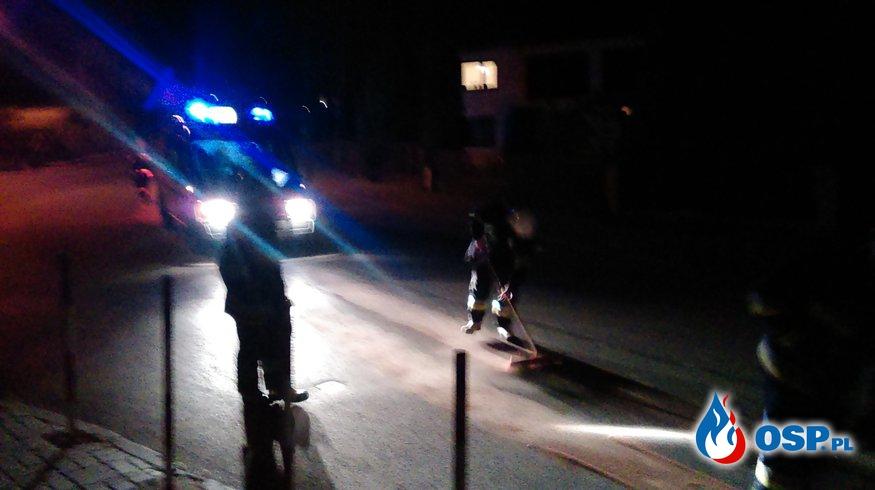 Plama oleju na ulicy Radomskiej OSP Ochotnicza Straż Pożarna