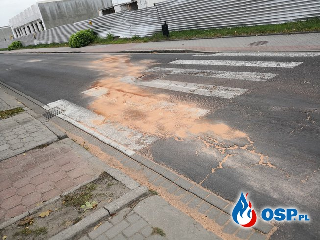 podwójne usuwanie substancji ropopochodnych 26-09-2018 OSP Ochotnicza Straż Pożarna