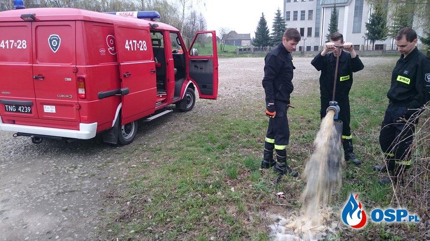 Kontrola hydrantów OSP Ochotnicza Straż Pożarna