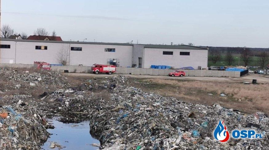 Pożar składowiska odpadów w Pyszącej. OSP Ochotnicza Straż Pożarna