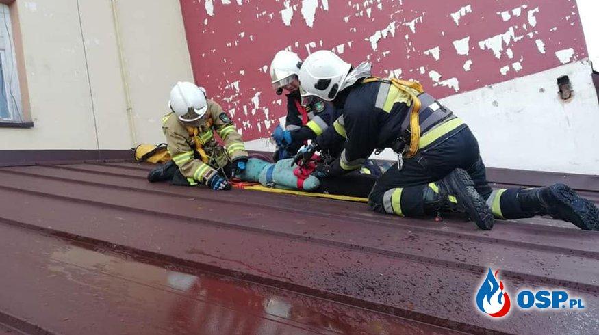PRACA NA WYSOKOŚCI - ĆWICZENIA OSP Ochotnicza Straż Pożarna