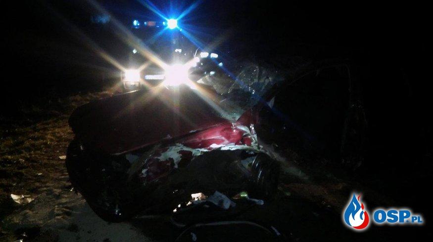 #06/2017 Wypadek drogowy Wyczechy-Krzemieniewo. OSP Ochotnicza Straż Pożarna