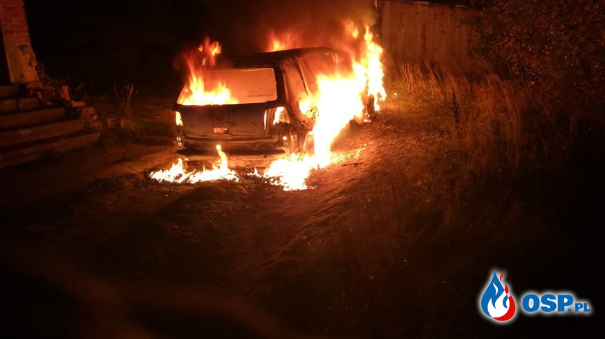 pożar samochodu 20-09-2018 OSP Ochotnicza Straż Pożarna