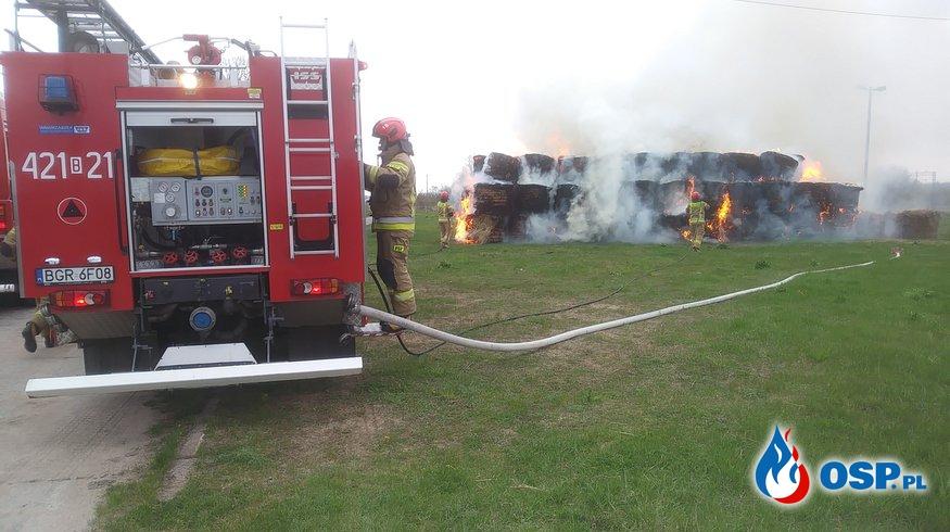 Pożar bel siana OSP Ochotnicza Straż Pożarna