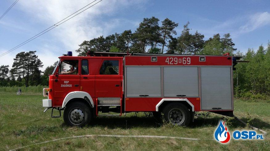 Pożar traw i nieużytków w Olszynach! OSP Ochotnicza Straż Pożarna
