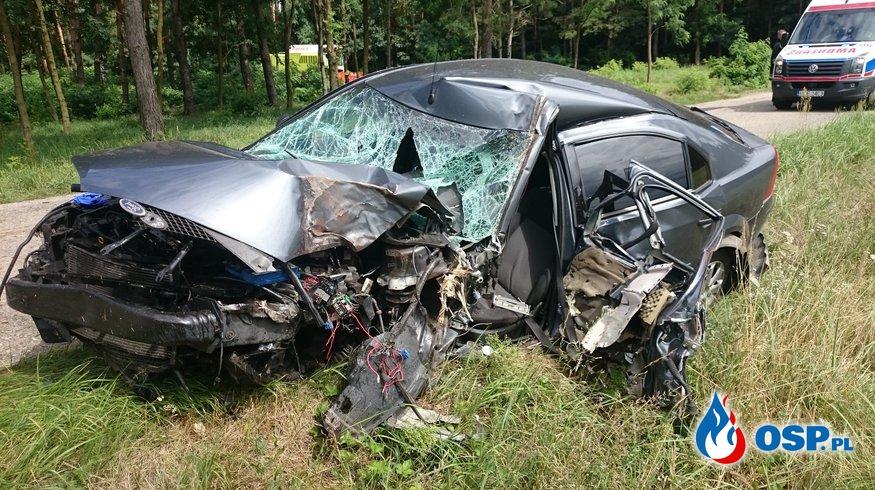 Wypadek w miejscowości Joanka OSP Ochotnicza Straż Pożarna
