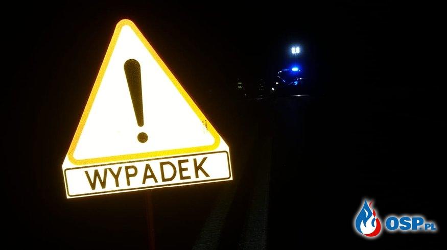 Wypadek Kępice 18-01-2020 OSP Ochotnicza Straż Pożarna