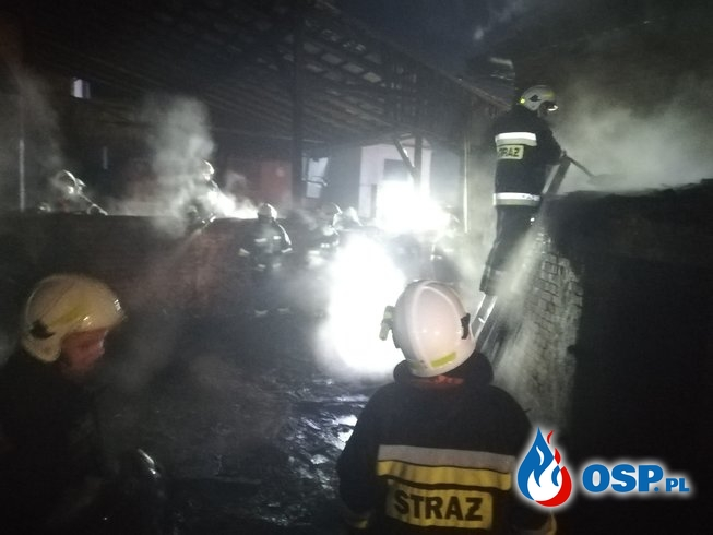 Pożar stodoły - Krzanowice OSP Ochotnicza Straż Pożarna