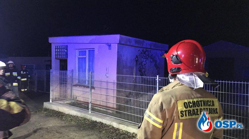 208/2020 Pożar stróżówki OSP Ochotnicza Straż Pożarna