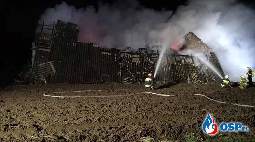 Pożar budynku gospodarczego pow. płocki OSP Ochotnicza Straż Pożarna