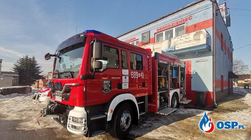 Nowy MAN w OSP Ogrodzieniec. To pierwszy średni samochód gaśniczy w gminie. OSP Ochotnicza Straż Pożarna