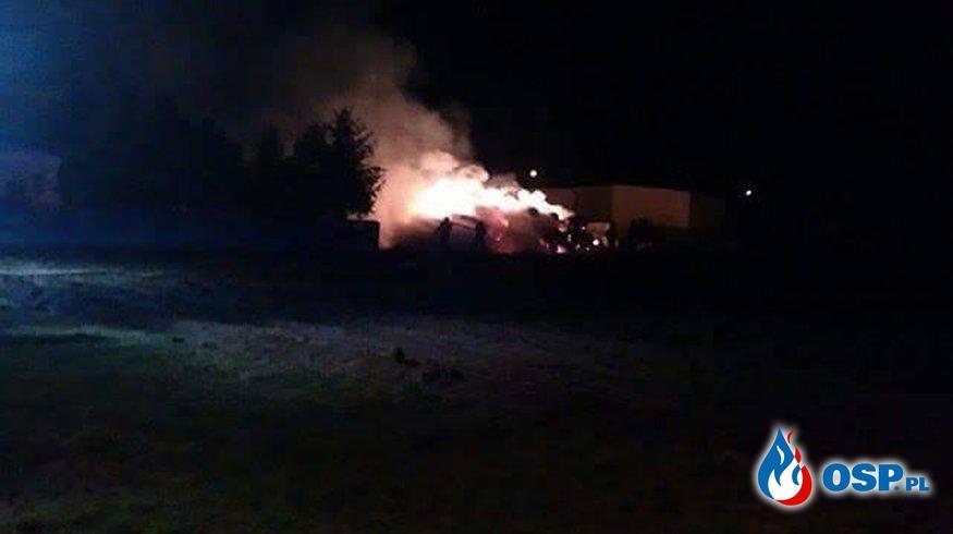 Podpalenie słomy OSP Ochotnicza Straż Pożarna