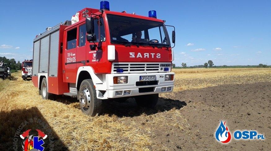 Pożar zboża na pniu w Źlinicach OSP Ochotnicza Straż Pożarna