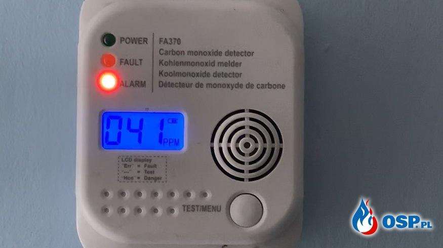 Aktywna czujka tlenku węgla w budynku mieszkalnym OSP Ochotnicza Straż Pożarna